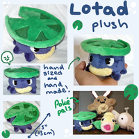 Lotad Pokedoll plush by scilk