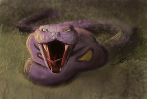 Arbok - realistic style by PtiLuky