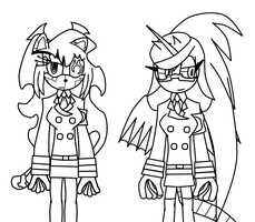 Demon sisters s4v4n and neo flamer by toamac