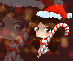 : Candy Cane : by Apple-Neko