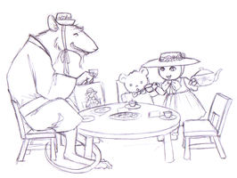 Tea Party With Grampa by Pimpypants