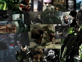Sam Fisher collage by BlackPookie