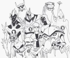Ben 10 Alien Force - WIP by 4elementGURU