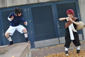 Sasuke Vs. Gaara by ElliotCosplay