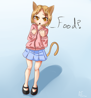 Cat girl - Food? by Crazyb2000