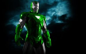 Iron Man Mix Green+Silver by 666Darks