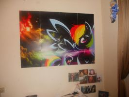 BIG Rainbow Dash Poster! by MissiTofu