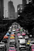 Bangkok Taxi Invasion by LOKA84