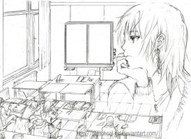 today in school by cicadella