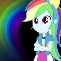 [Equestria Girls] Rainbow Dash Wallpaper by Pokedom2001