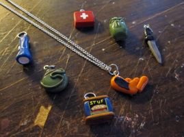Zombie Survival Necklace Set by egyptianruin