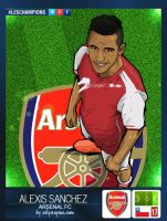 LesChampions: Alexis Sanchez Arsenal Stickers by akyanyme