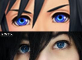 comparison original and cosplay by Xares-nyan