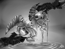 Azel and Axel commission by SpadeNightmaren