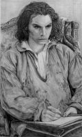 Drawing of the Artist: Aidan Turner as Rossetti by shuckaby