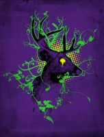 Trippy ghost Deer by biotwist