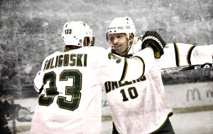 Morrow and Goligoski Wallpaper by XxBMW85xX