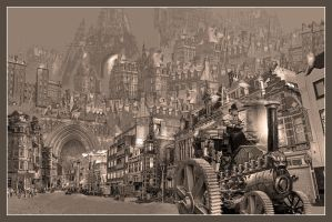Huy Jorsaleem, steampunk city by taisteng