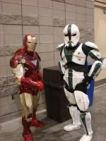 Ironman and a stormtrooper by starkt2k