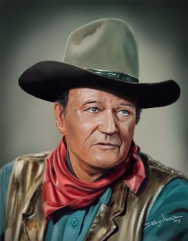 John Wayne by r3cycled