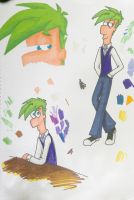 Ferb Sharpie Try by SketcherIda