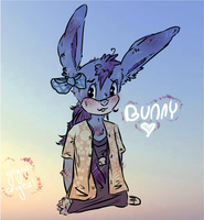 Bunny! (first toon) by JayneCroyez