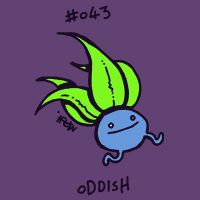 043 Oddish by toadcroaker