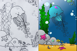 Doodle #25 'Under the sea' by Lifeiscutebyadeline