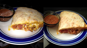 Homemade Pepperoni and Sausage Calzone by Wigglesx