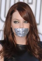 Emma Stone duct tape gagged by ikell