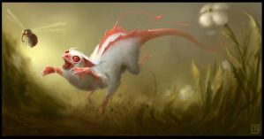 Six Legged Albino Speedster by m-hugo