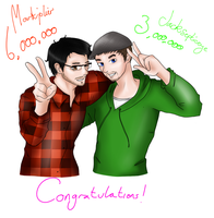Congratz Markiplier and  Jacksepticeye! by Pink-chi