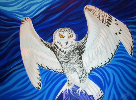 Snowy Owl by MitziMonster