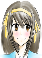 Haruhi- Color Sketch by Layla-Chan96