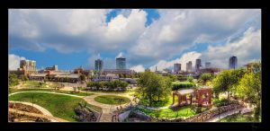 Little Rock Skyline Pano HDR by joelht74