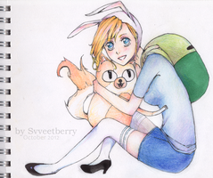 Adventure Time - Fionna and Cake by Svveet