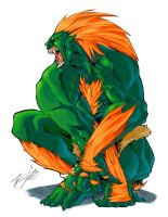 Blanka 001 by streetfighterart