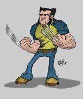 Wolverine Coloured by LloydBridgemanInk