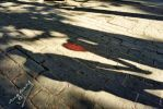 Shadows with red balloon by ingenierocuevas