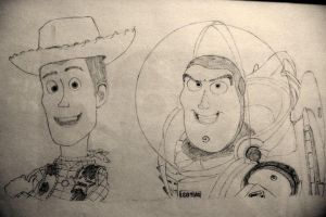 Buzz and Woody by BigBigWolf