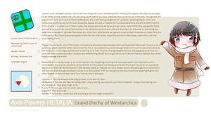 Grand Duchy of Westarctica OC Profile Card by F-rostyy
