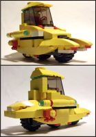 LEGO Yellow 3 Wheel Cycle by Frohickey