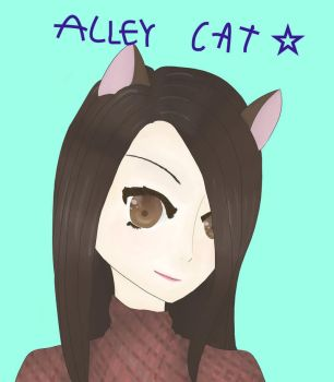 A Really Cool Headshot for AlleyCat by Creepypastasarecool