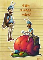 The Snail Man by Cgoose