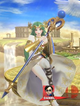 Palutena's screen KO by ShadowDragon1994