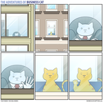 The Adventures of Business Cat - Window by tomfonder