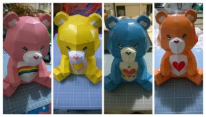 Care Bears PaperCraft by alisonfreire
