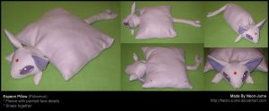 Espeon pillow by Neon-Juma