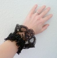 Black lace cuff by Lincey