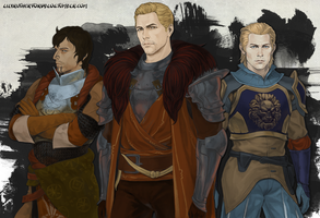 Rylen, Michel, and Cullen by LilyRutherford